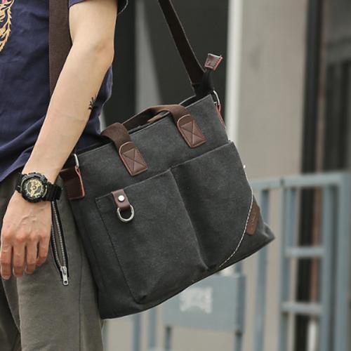 Men's Business Trend Canvas Outdoor Handbag