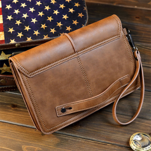 Men's Casual Hand Holding Fashion Trend PU Bag