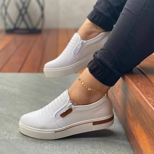 Women's Side Zipper Light Casual Loafers