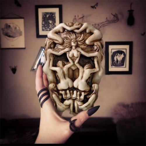 Body art Gothic skull wall decoration