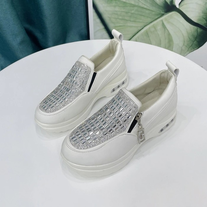 Women's Crystal Thick Bottom Air Cushion Casual Shoes