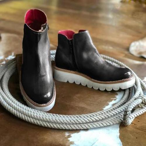 Winter Side Zipper Snow Boots