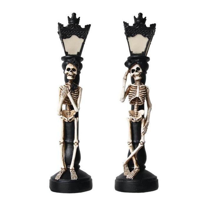 2Pcs Halloween Miniature Street Lamp