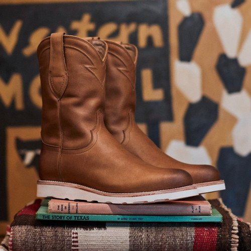 Men's Wedge Roper Boot - Bovine Leather Ranch Boots