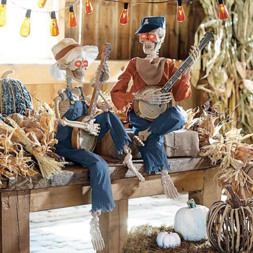Animated dueling banjo skeletons musical