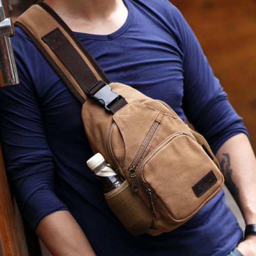 Men's Messenger Bag Canvas Shoulder Bag Sports Leisure Waist Bag