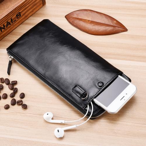 Men's Long Wallet Youth Zipper Ultra-thin Wallet