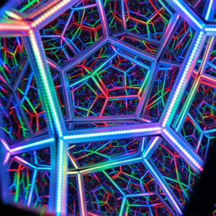 Infinite Dodecahedron Color Art Light