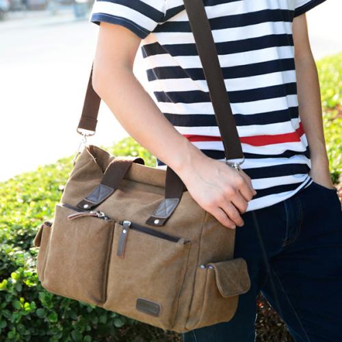 Men's Messenger Bag Casual Cloth Bag Handbag Large Capacity Travel Bag