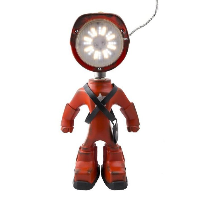 Industrial robot lamp steampunk table lamp