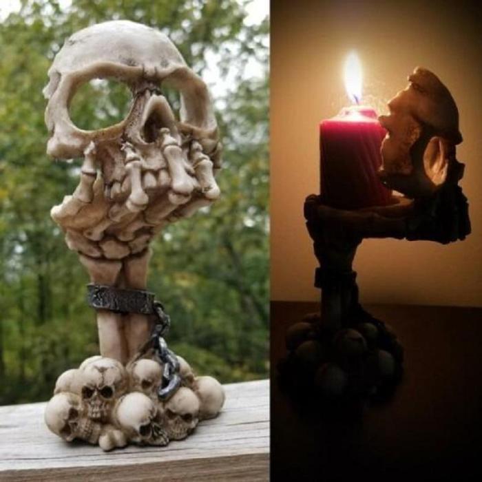 Deliberation Tealight Holder/Halloween Decor, Home Horror Decor