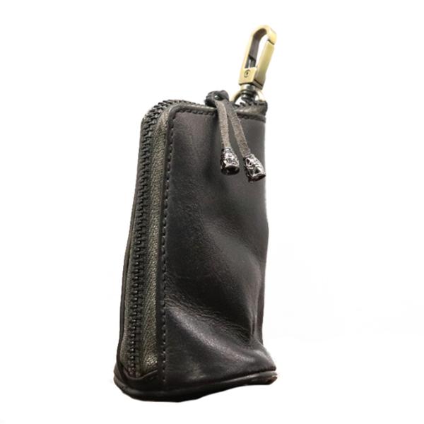 Vintage Leather Men's Large-capacity Waist Key Bag
