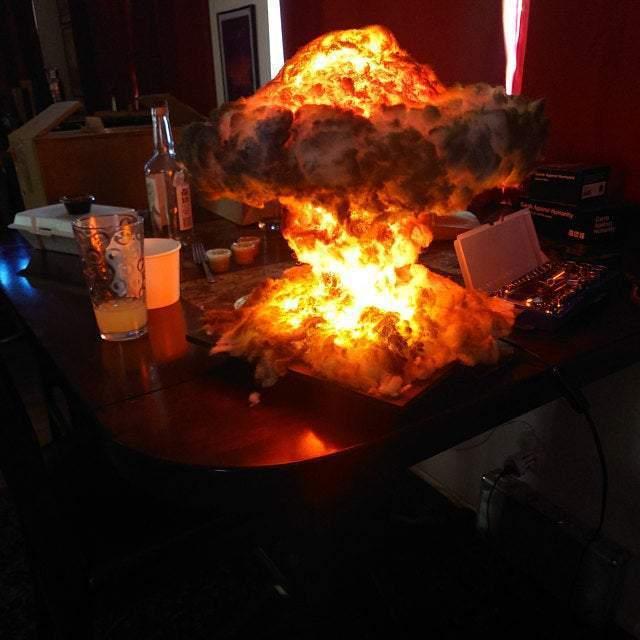 Nuclear Explosion Bomb model LIGHT night lamp