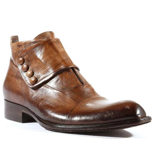 Low Heel Round Toe Solid Color Men's Short Boots