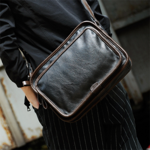 Trendy Small Backpack File Bag Simple Casual Bag