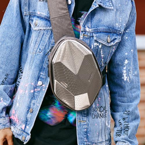 New Cool Multi-faceted Men's Waterproof Trendy Hard Shell Bag