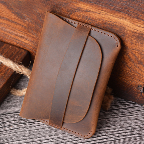 Simple and Creative Retro Casual Leather Card Holder