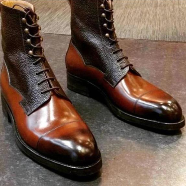 New Leather Stitching Color Matching Martin Boots
