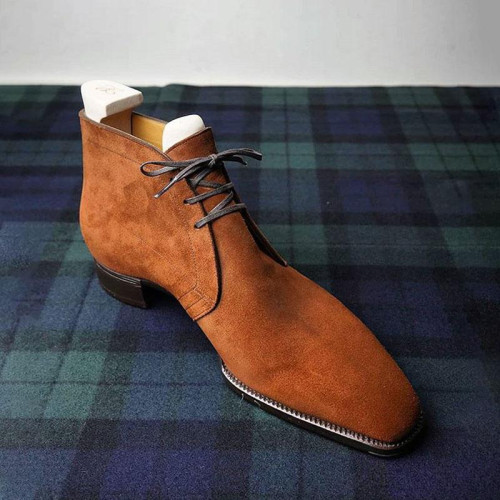Suede Leather Chukka Boots For Men'S