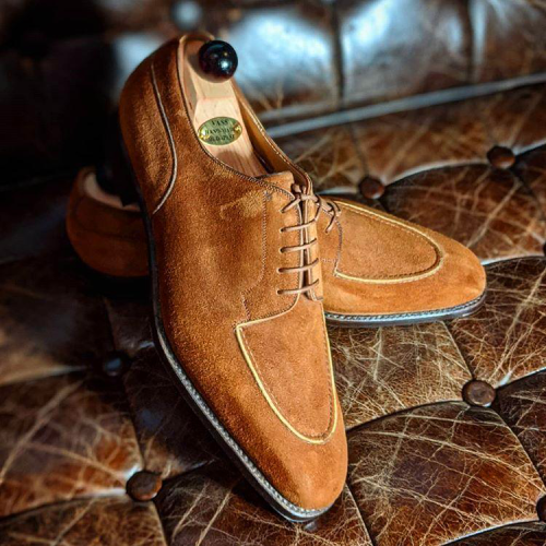 Suede Lace Up Oxford Shoes