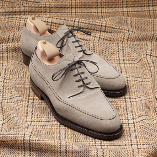 Men's Gray Suede Oxford Shoes