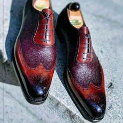 2021 New Low-heel Color Matching Men's Business Shoes