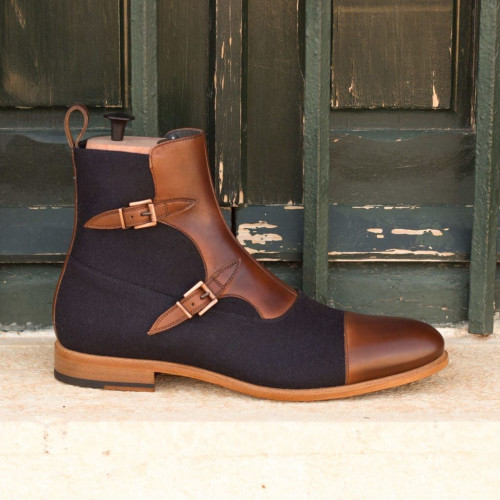 Pu Leather Men Chelsea Ankle Boots