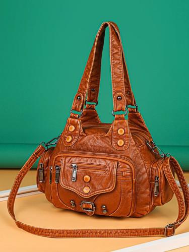 Vintage Studded Utility Baggy Bag