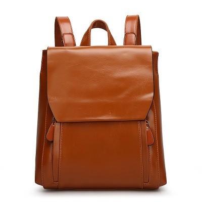 Phemia Oil Wax Leather Backpack