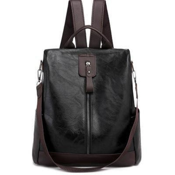 Women's simple and versatile large-capacity backpack