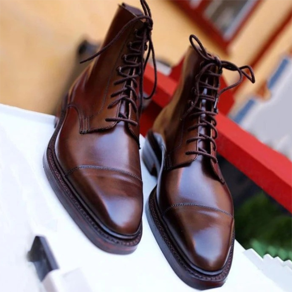 New Arrivals Trendy Men's Front Lace-up Low-top Boots