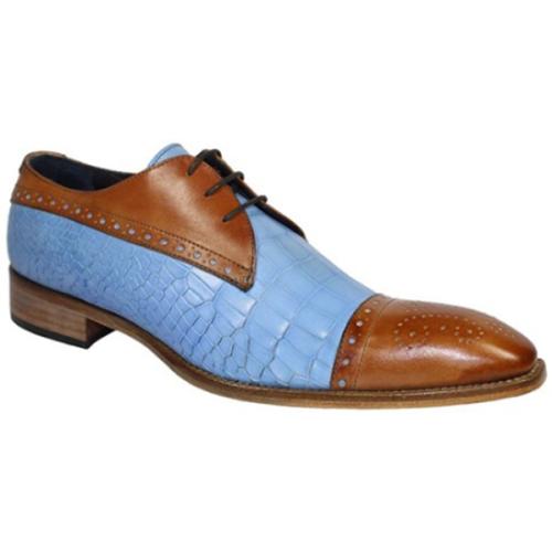 New Low-heel Rivet Color-blocking Business Men's Shoes