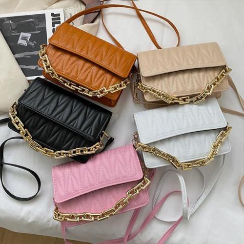Fashion Obscured PU One-Shoulder Diagonal Bag