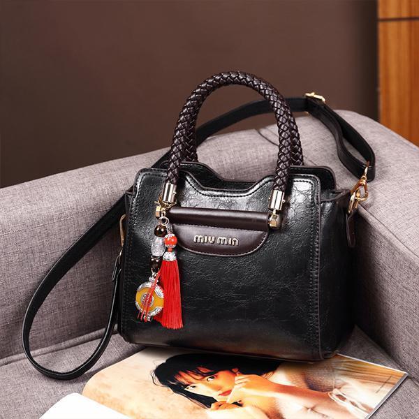 Fashion Genuine Leather Cowhide Shoulder Bag