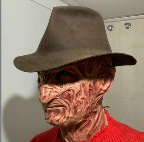 🔥kesicily (50% off today!) Freddy Krueger murderous demon mask in 2021-Halloween pre-sale