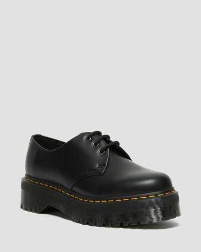 1461 3-Eye Leather Platform Boot for Women
