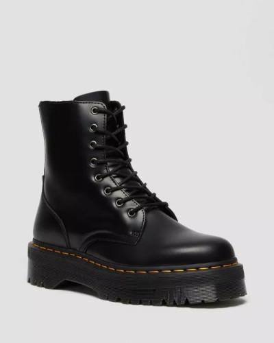 8-Eye Leather Platform Boot for Women