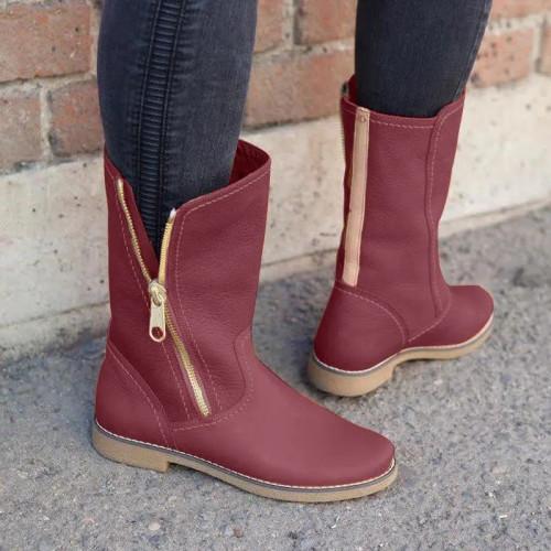 Women's Side Zipper Casual Boots