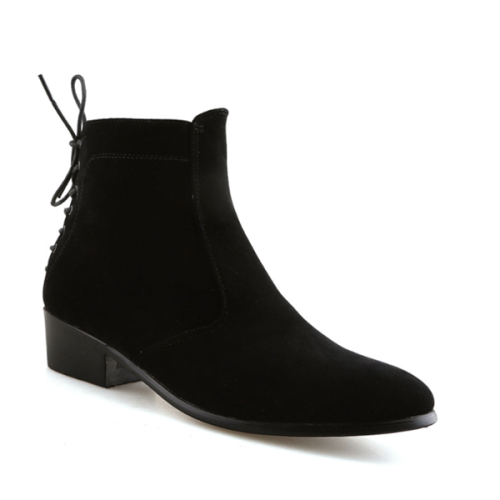New Men's Outdoor High-top Pointed Toe Martin Boots
