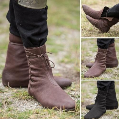 New Flat-bottom Men's Trendy Short Boots