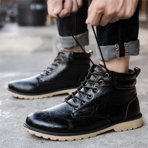 Autumn and Winter New Style Casual Leather Martin Boots