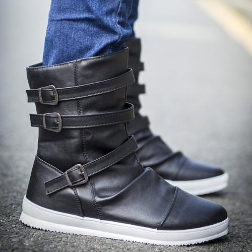 Fashion Outdoor Trendy Belt Buckle Men's Boots