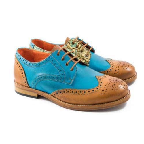 Trendy Low-heel Lace-up Men's Business Shoes