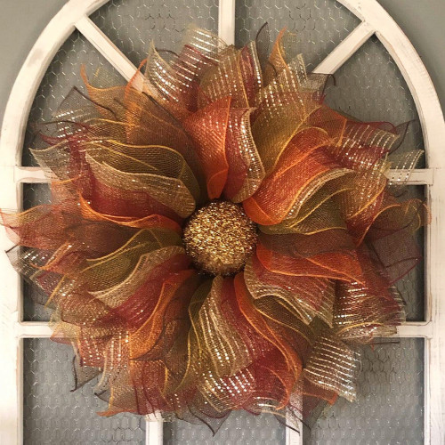 Fall Leaves Flower Wreath-The Latest Home Atmosphere Decoration