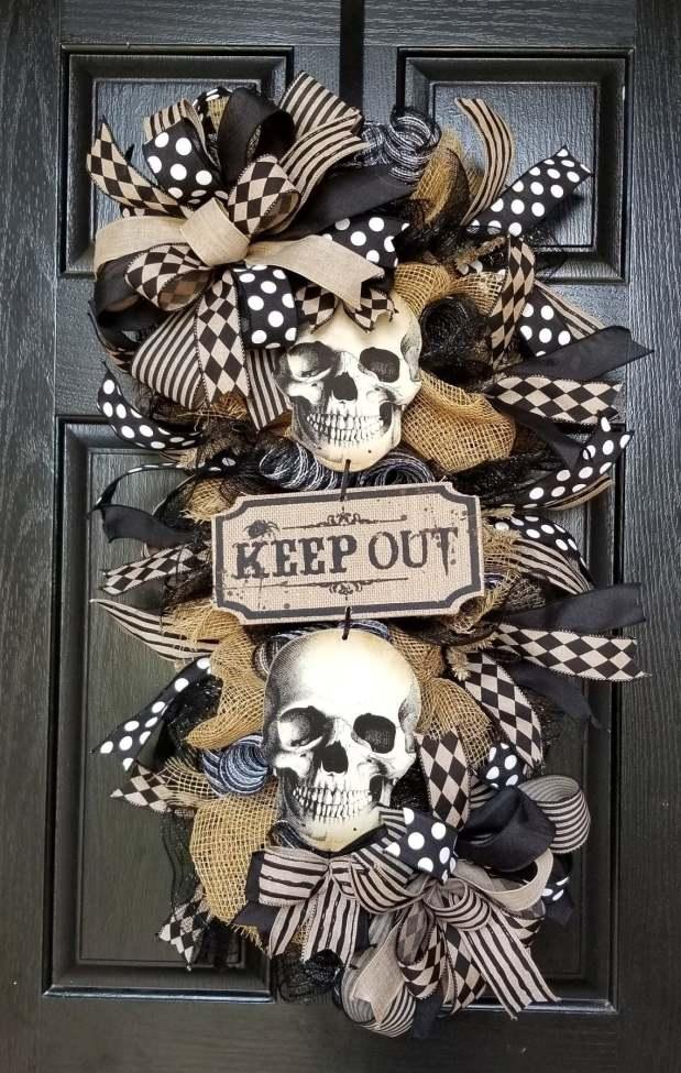 Halloween Skeleton Swag-The Latest Halloween Trend Decoration