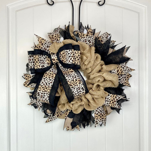 Leopard Print Rustic Wreath
