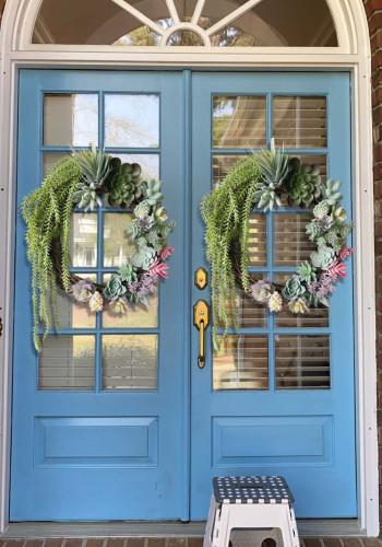 Colorful Summer Succulent Wreath