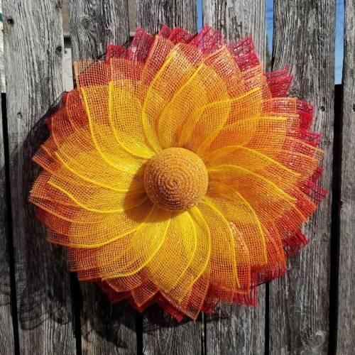 Fall Tequila Sunrise Sunflower Garland