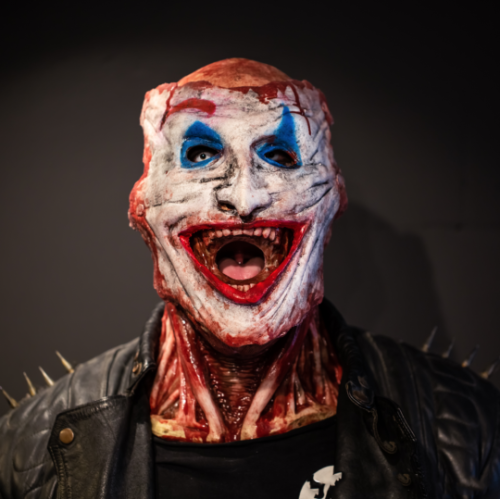"""""""Joker or Ghost Rider"""" Mask--Tear-off type, With Movable Jaw"""