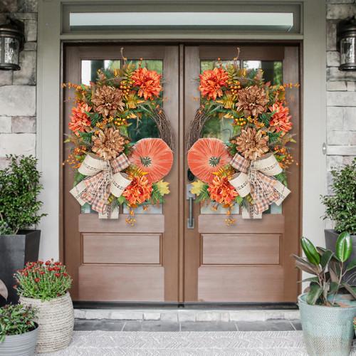 Fall Pumpkin Garland-Rustic Grapevine Home Decor(Ready to Ship!)